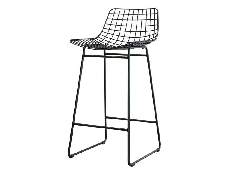 Completely new HK-Living Barstool metal black - LIVING AND CO. VF41