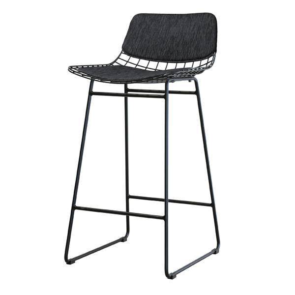 hk living barstool metal black living and co. Black Bedroom Furniture Sets. Home Design Ideas