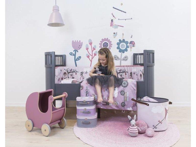 sebra kili babybed junior bed grey living and co. Black Bedroom Furniture Sets. Home Design Ideas