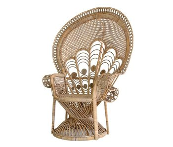 HK-Living Rattan peacock chair chic