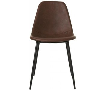 House Doctor Forms brown chair set of 4