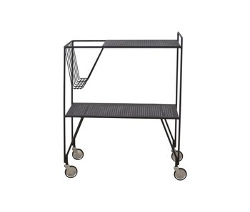 House Doctor Brug trolley black metal