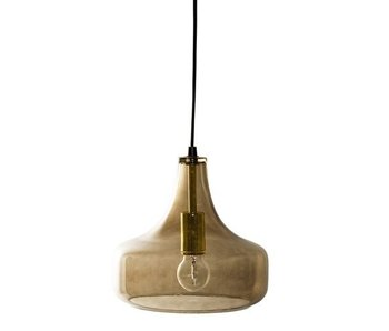 Bloomingville Hanging lamp brown glass