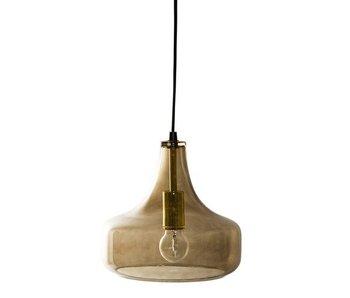 Bloomingville Hanglamp bruin glas