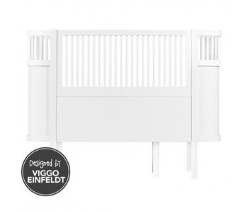 Sebra Kili bed baby crib junior white