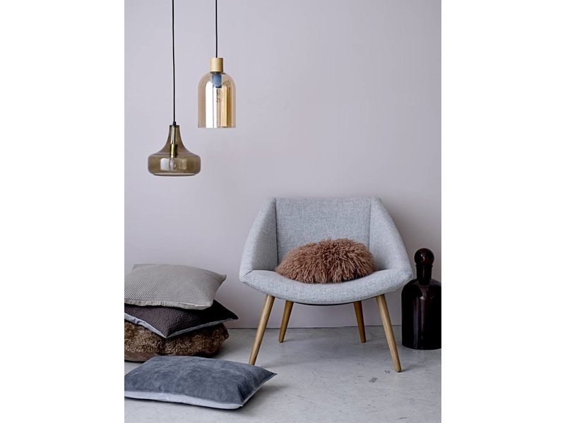 bloomingville hanging lamp brown glass living and co. Black Bedroom Furniture Sets. Home Design Ideas