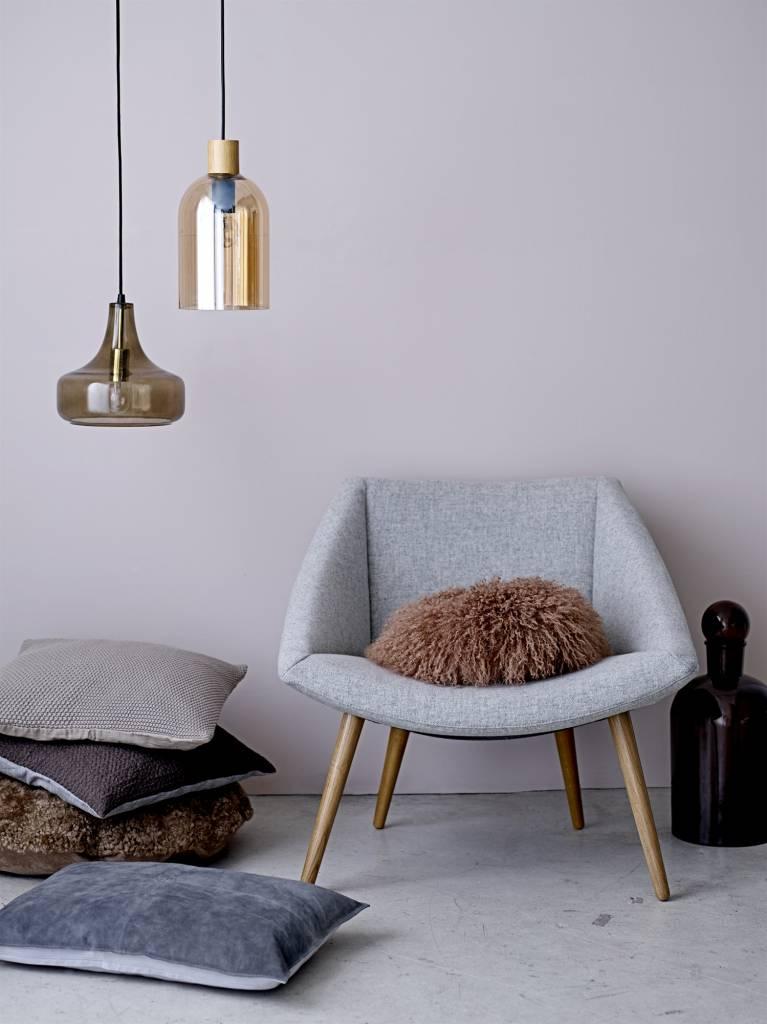 bloomingville hanglamp bruin glas living and co. Black Bedroom Furniture Sets. Home Design Ideas