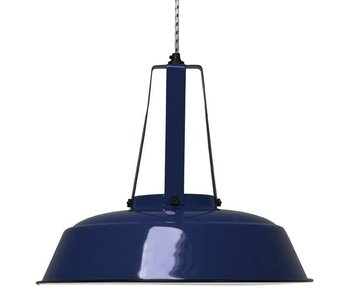 HK-Living Industrial hanging lamp 'workshop' dark blue L