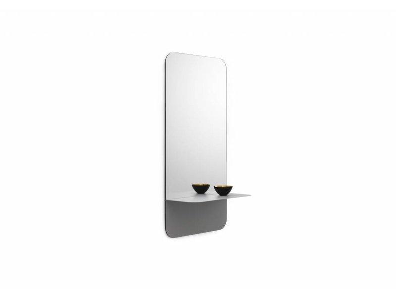 Normann Copenhagen Horizon spiegel met plank verticaal grijs