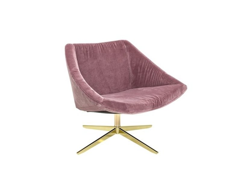 Samt Sessel bloomingville upholstered armchair pink living and co