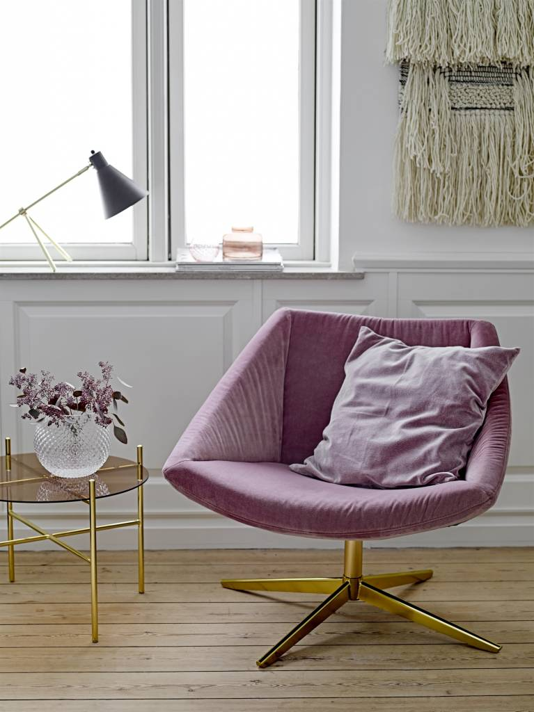 bloomingville elegant upholstered armchair pink living. Black Bedroom Furniture Sets. Home Design Ideas