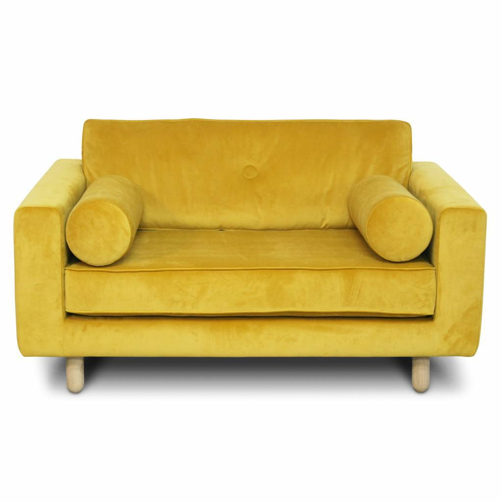 Avenue Loveseat Fabric Seven 23 Yellow Velvet Living And Co
