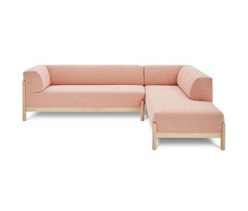 FEST Amsterdam sofá del salón Kate Kvadrat Steelcut Trio 515 tela de color rosa