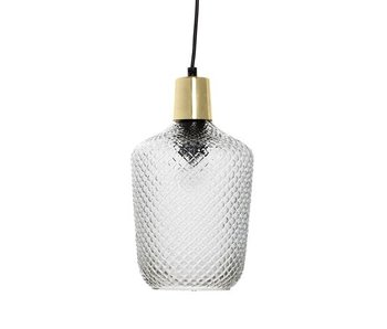 Bloomingville Hanging lamp brass glass