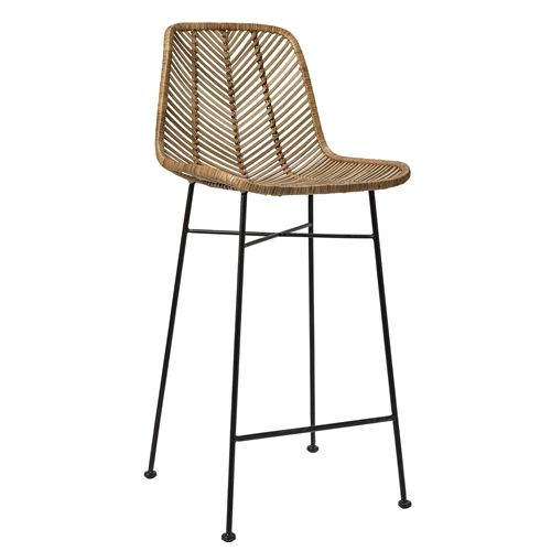 bloomingville rattan barstool chair natural living and co. Black Bedroom Furniture Sets. Home Design Ideas