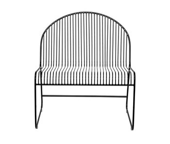 Bloomingville Friend lounge chair black metal