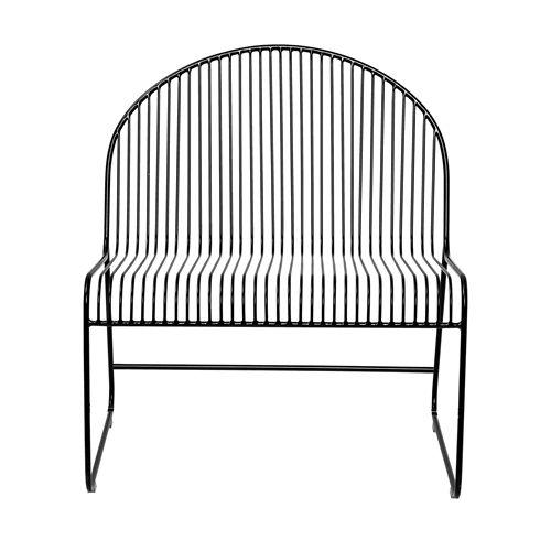 ... Bloomingville Friend Lounge Chair Black Metal