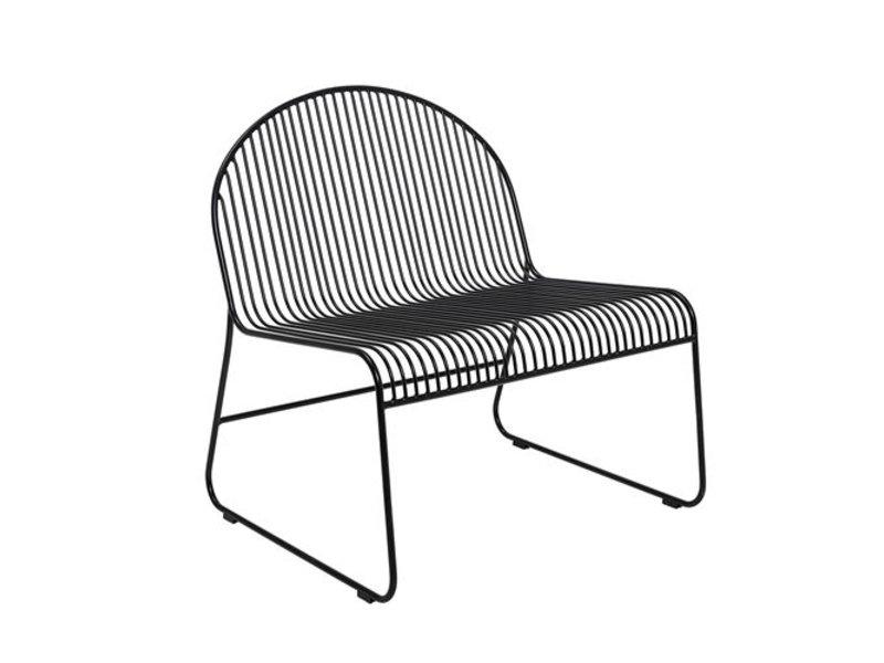 Bloomingville Friend loungestoel zwart metaal
