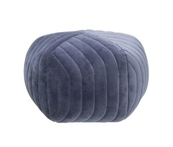 Bloomingville Hope pouf blue