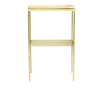 Bloomingville Grid side table metal gold look