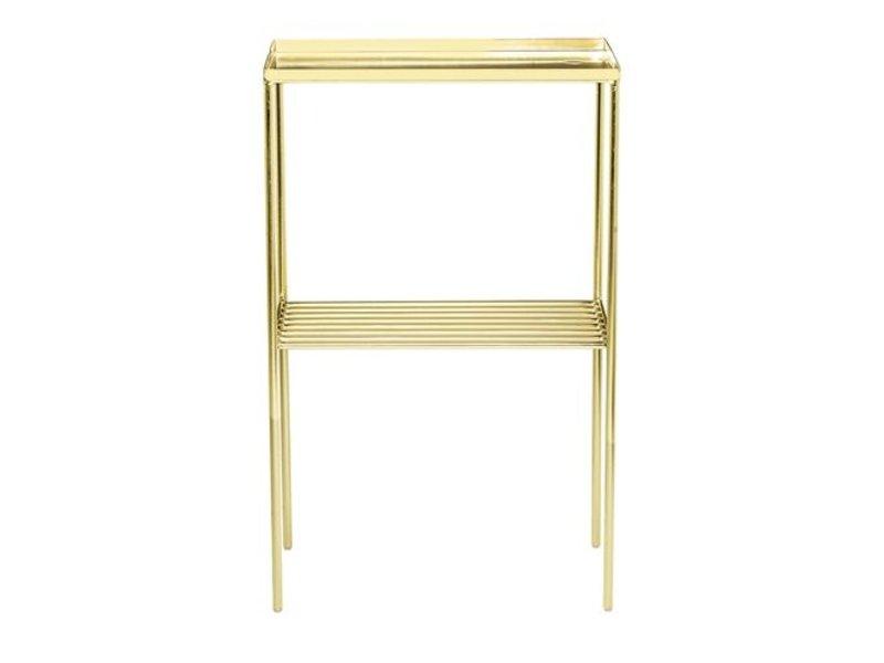 Bloomingville Grid Side Table Metal Gold Look