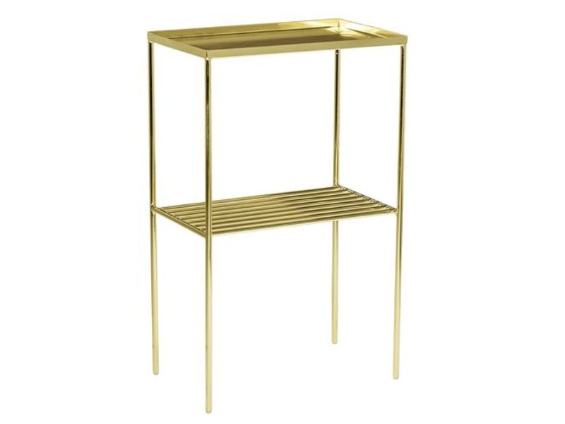 bloomingville grid sidetable metal gold look living and co. Black Bedroom Furniture Sets. Home Design Ideas