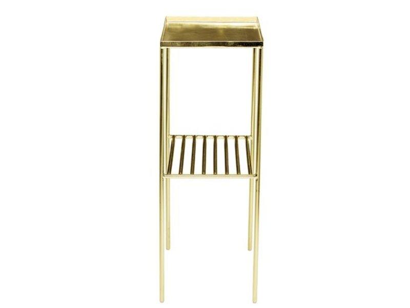 Bloomingville Grid Beistelltisch metallischem Gold-Look