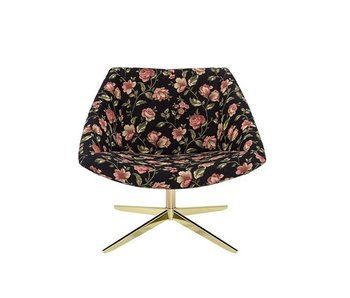 Bloomingville Elegant armchair multicolor flowers