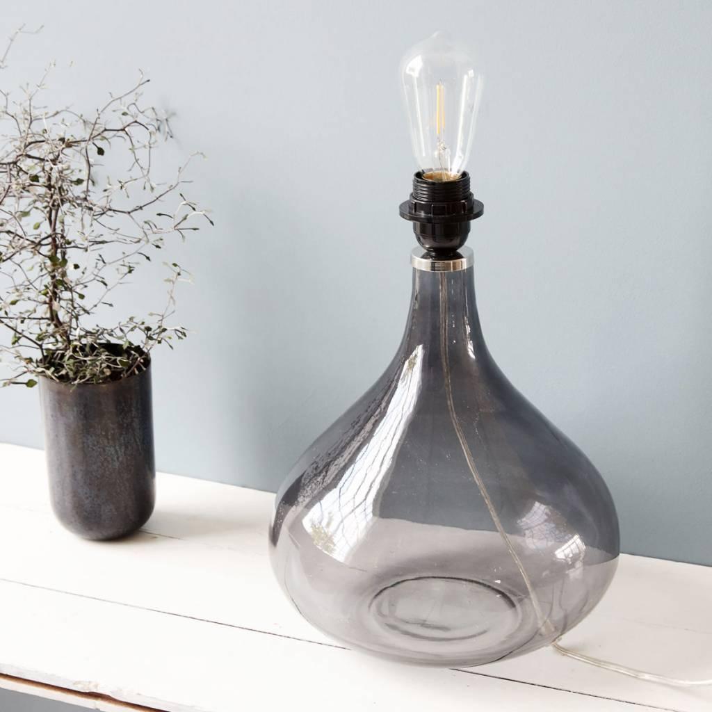 house doctor big lamp medium grey glass living and co. Black Bedroom Furniture Sets. Home Design Ideas