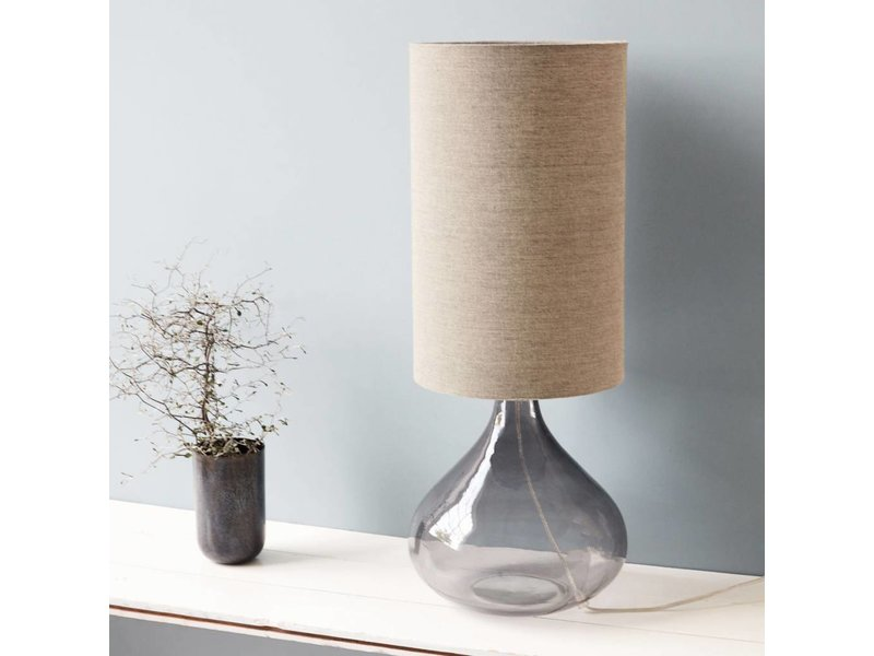 House Doctor Lampen : House doctor big lamp medium grey glass living and co.