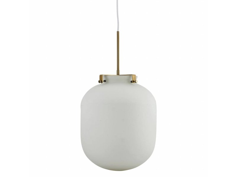 ... House Doctor Ball Pendant Light White Glass ...