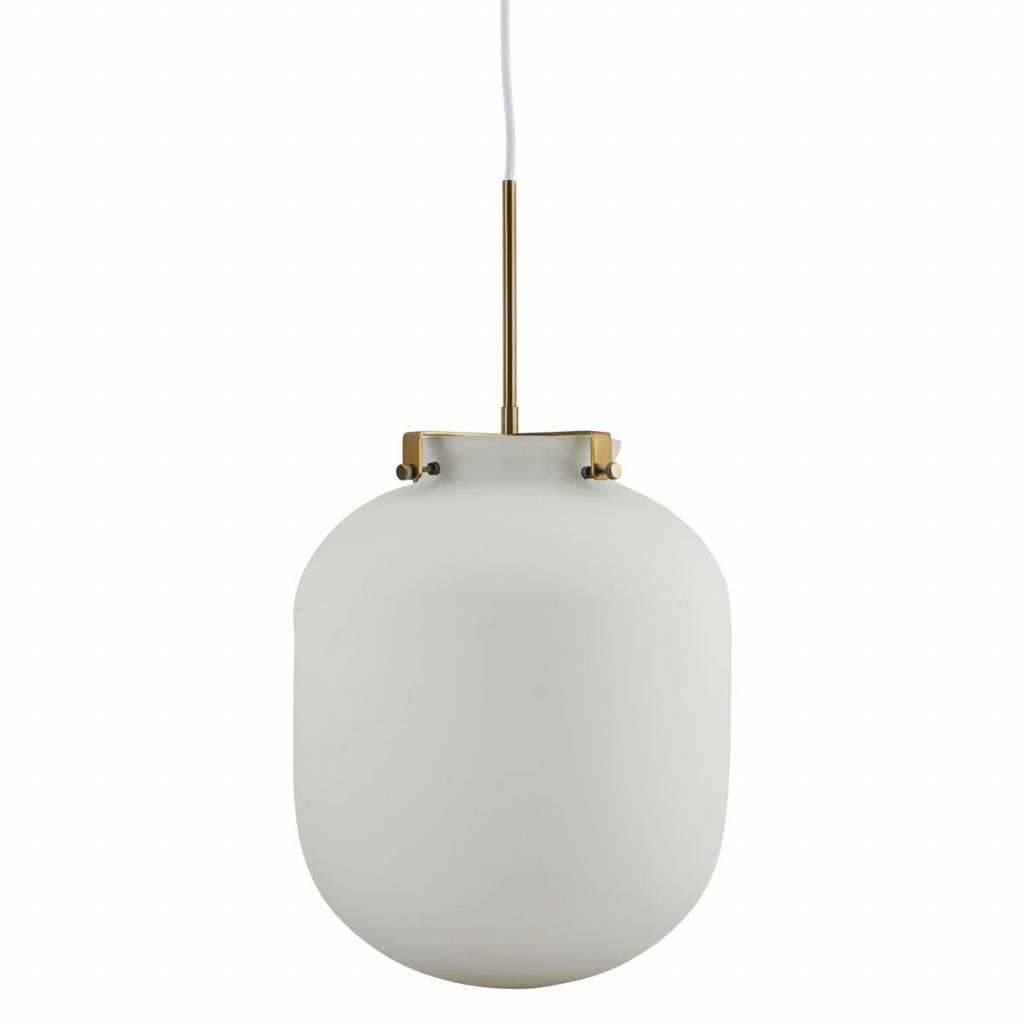 House doctor ball hanging lamp glass white living and co house doctor ball pendant light white glass aloadofball Choice Image