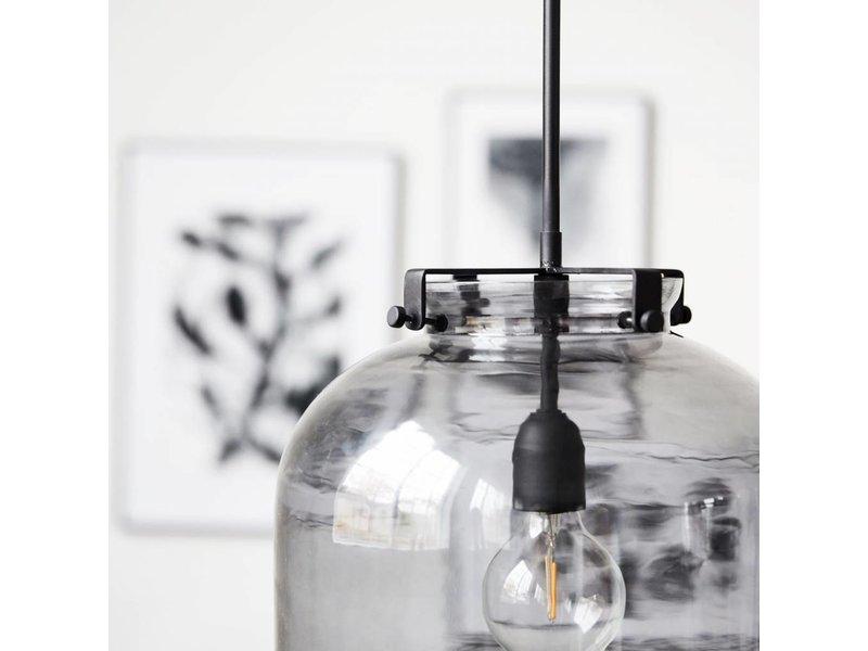 House Doctor Ball pendant light grey glass