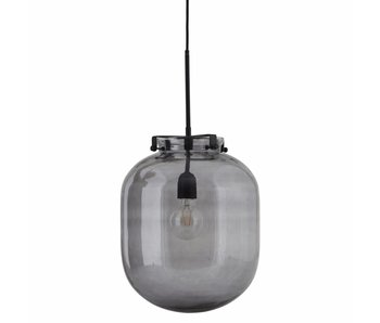 House Doctor Ball pendant light grey glass