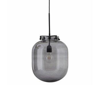 House Doctor Bollen hängande ljus grått glas