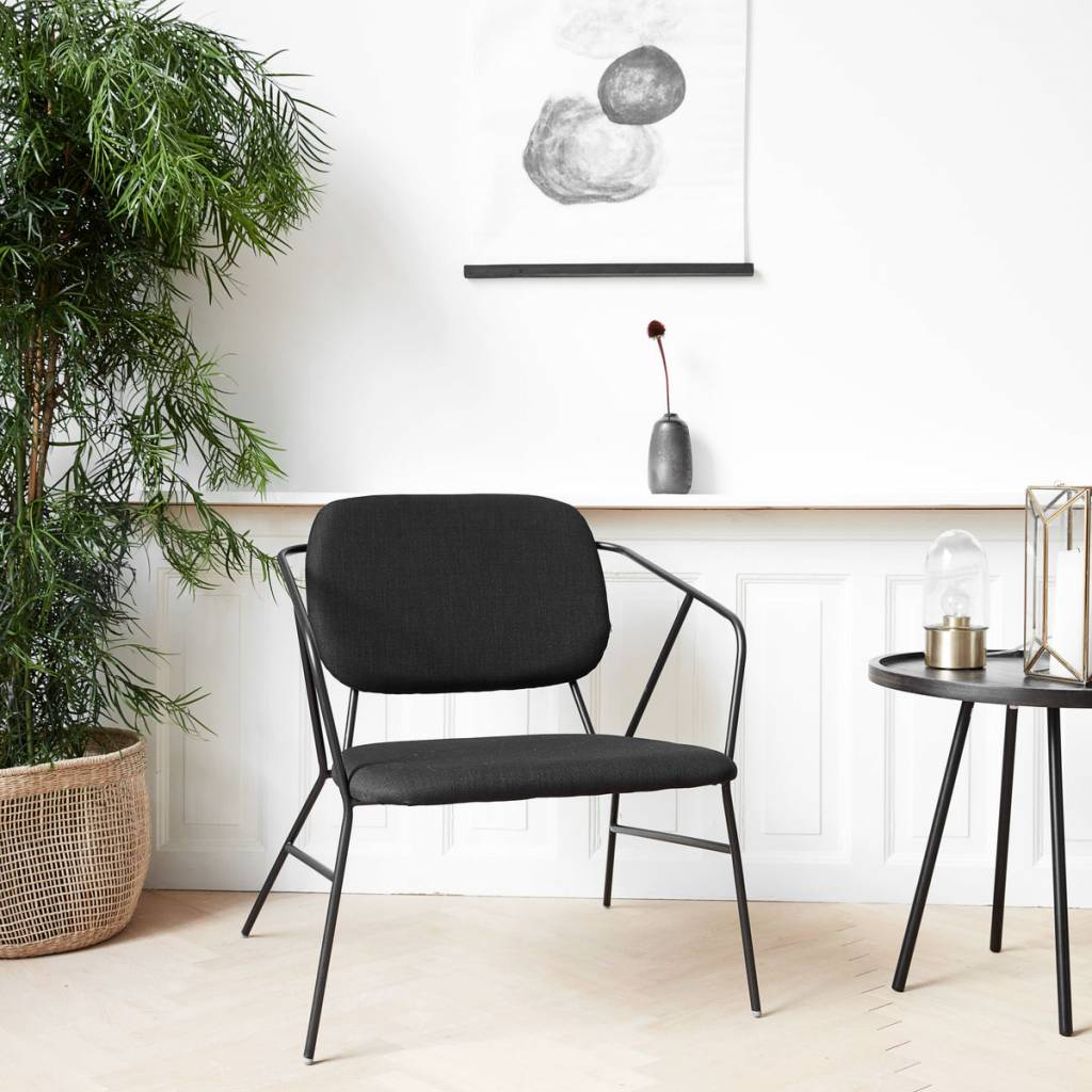 ... House Doctor Klever Lounge Chair Black Metal ...