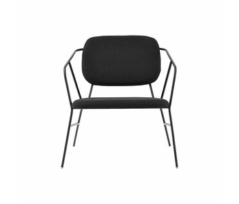 House Doctor Klever lounge chair in metallo nero