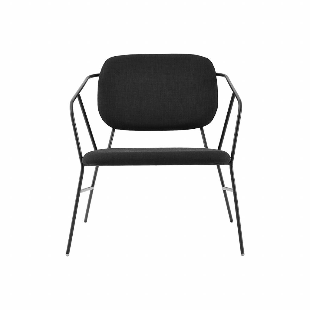 House Doctor Klever lounge stol sort metal - LIVING AND CO. a7d1c295c9642