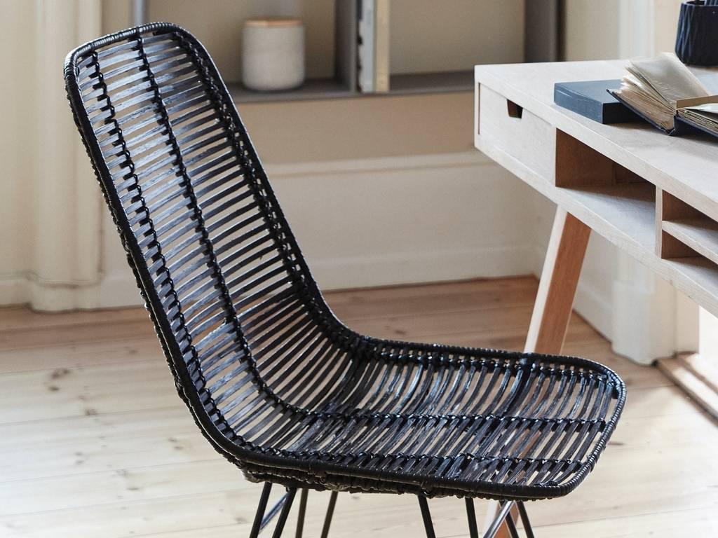 Good ... Hubsch Studio Black Rattan Chair ...
