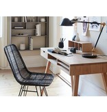 Hubsch Studio black rattan chair