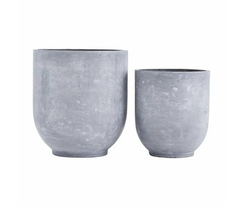 House Doctor Gard bloempot set beton look
