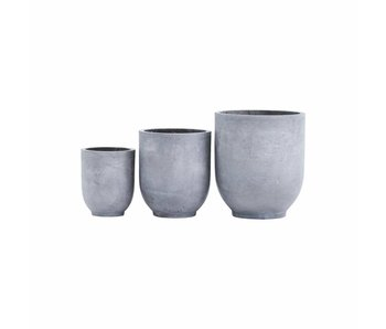 House Doctor Gard flowerpot set concrete look