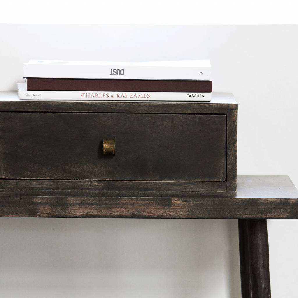 House Doctor Club Side Table Stained Black Wood ...