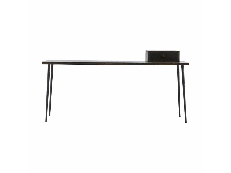 House Doctor Club Consule Sidetable Stained Black Wood Living And Co