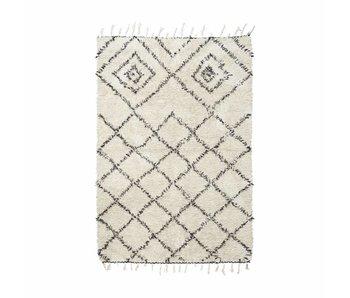 House Doctor Kuba alfombra 140x200 cm de algodón blanco y negro