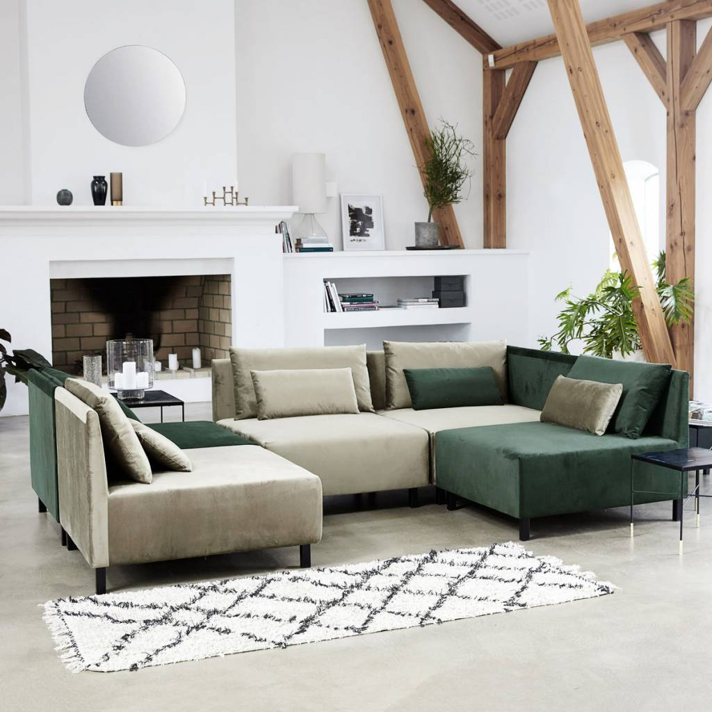 house doctor riba vloerkleed katoen zwart wit 90x200 cm living and co. Black Bedroom Furniture Sets. Home Design Ideas