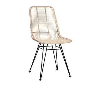 Hubsch Studio rattan chair whitewash