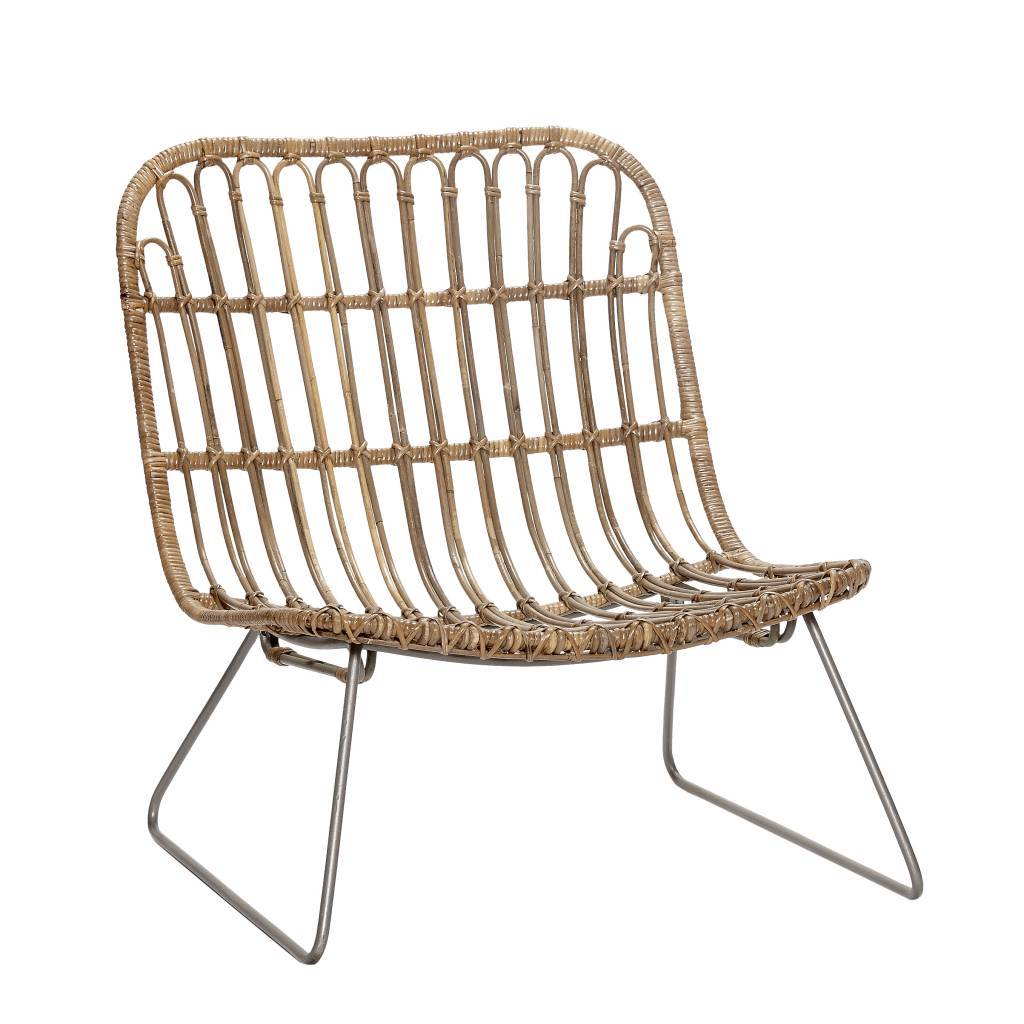 Lounge sessel rattan  Hübsch Rattan lounge chair natural - LIVING AND CO.