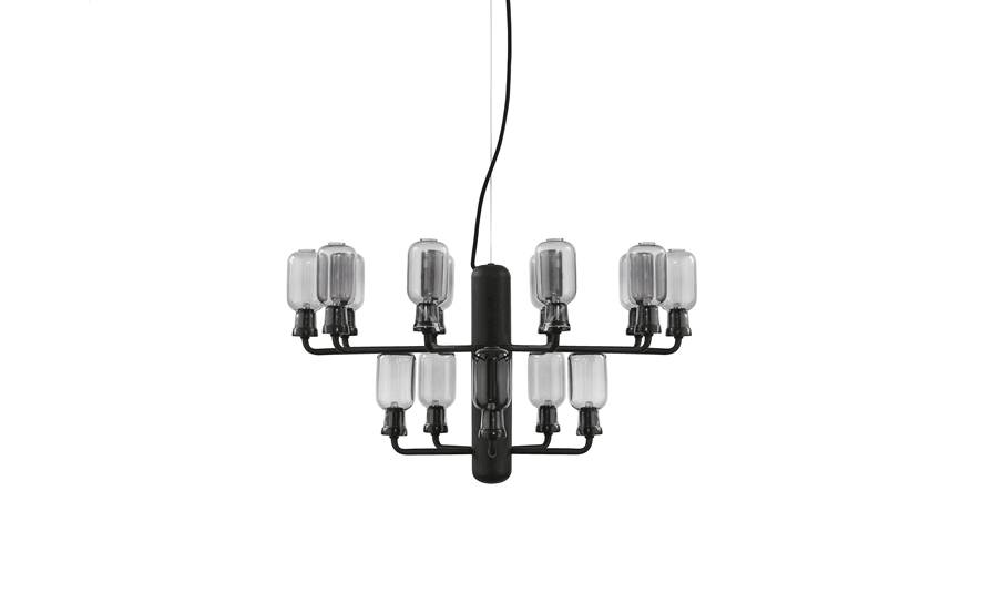 normann copenhagen amp chandelier small lamp black. Black Bedroom Furniture Sets. Home Design Ideas