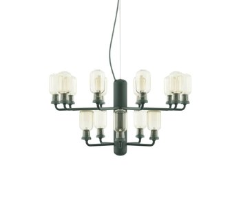 Normann Copenhagen AMP Chandelier Small hanging lamp green